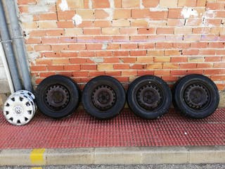 "llantas con neumático 15 "" de 4 tornillos."