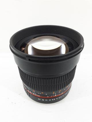 Objetivo Samyang 85 mm 1,4 compatible Canon