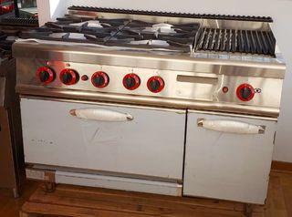 Cocina a gas 4 fuegos con horno