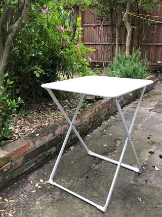 Foldable Metal Table 55x55 cm