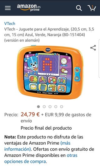 tablet juguete Vtech