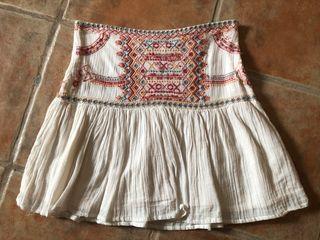 ZARA Cream Skirt Falda