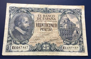 Billete 25 Pesetas 1940 MBC+