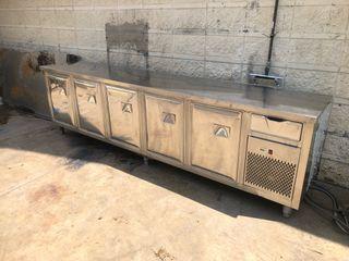 Bajomostrador refrigerado 3 metros inox