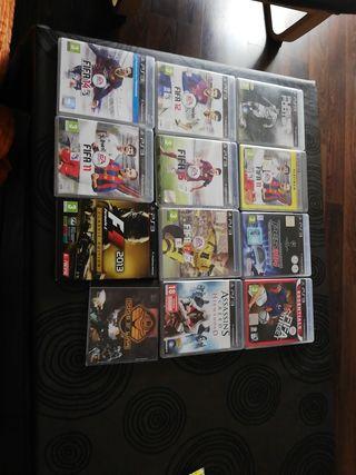 pack de 12 videojuegos PS3