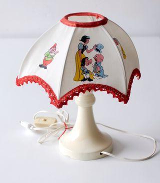 Lámpara infantil Blancanieves y los siete enanitos