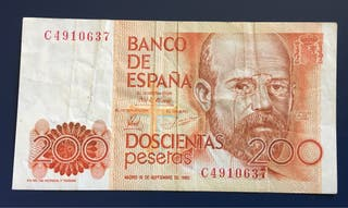 Billete 200 Pesetas 1980 MBC