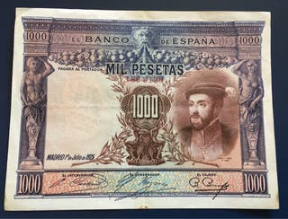 Billete 1000 Pesetas 1925 EBC
