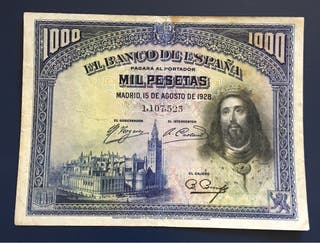 Billete 1000 Pesetas 1928 MBC