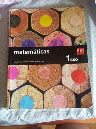 Libro de matemáticas 1°de Eso