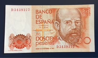 Billete 200 Pesetas 1980 EBC+