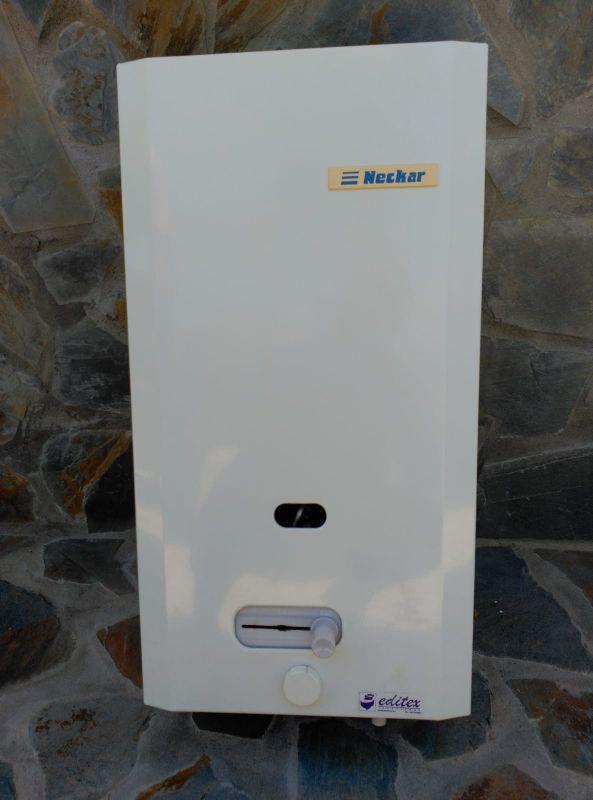 Calentador de agua a gas.