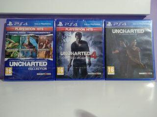 5 juegos Uncharted saga completa PS4
