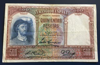 Billete 500 Pesetas 1931 MBC