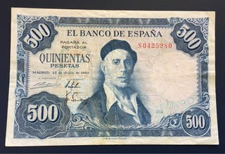 Billete 500 Pesetas 1954 MBC.