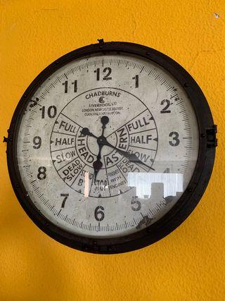 Reloj de pared, marino, submarino