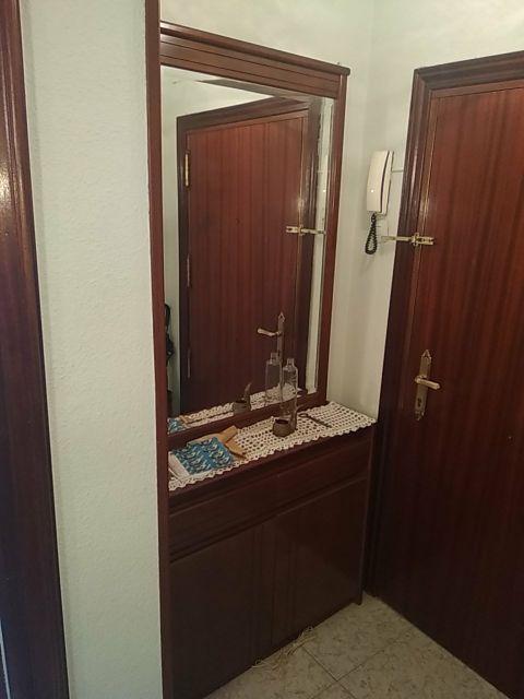 Mueble recibidor zapatero vintage con espejo
