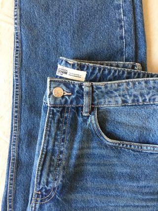 Pantalón De Jean Tiro Alto Zara Mom Jean S