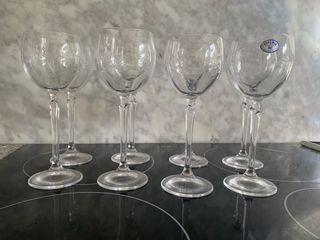 39 copas de cristal de bohemia
