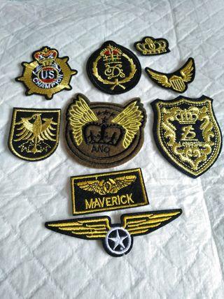 parches militares para ropa (se planchan)
