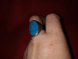 anillo de plata antigua