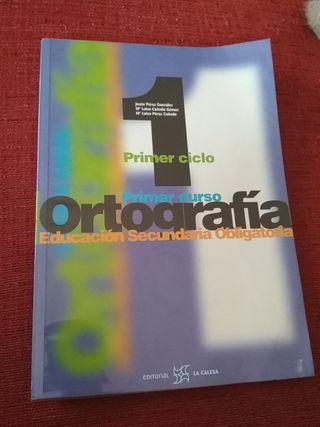 Libro de ortografía 1° de secundaria