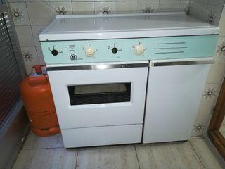 Cocina de gas y bombonas