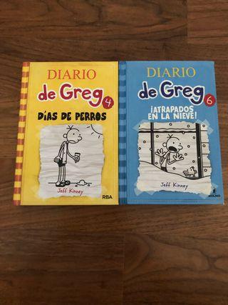 Libros Diario de Greg 4 y 6