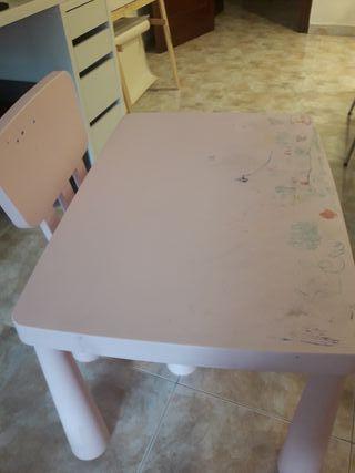 Mesa infantil IKEA + Silla