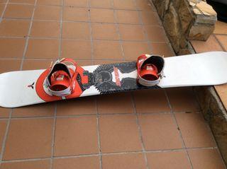 Tabla snowboard santa cruz con fijaciones