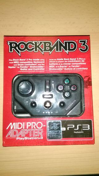 MIDI Pro adapter rock band 3 ps3 precintado