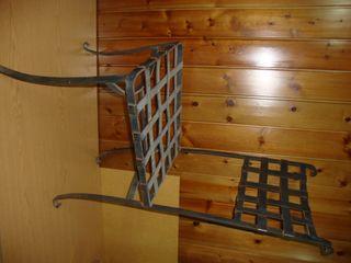 silla de jardín de hierro vintage