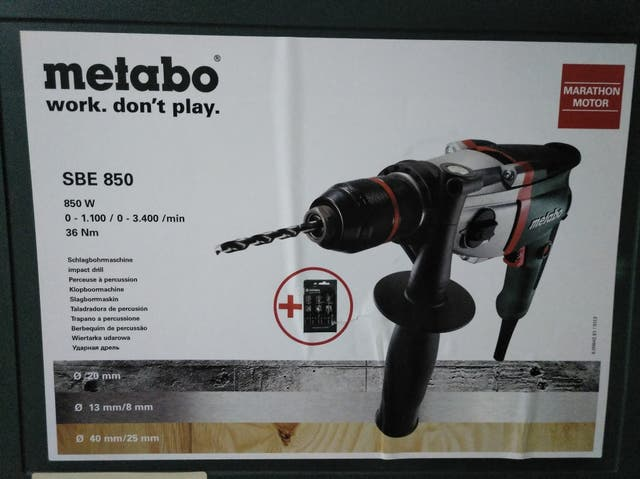 taladro percutor metabo SBE 850
