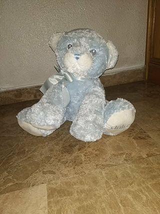 peluche oso azul