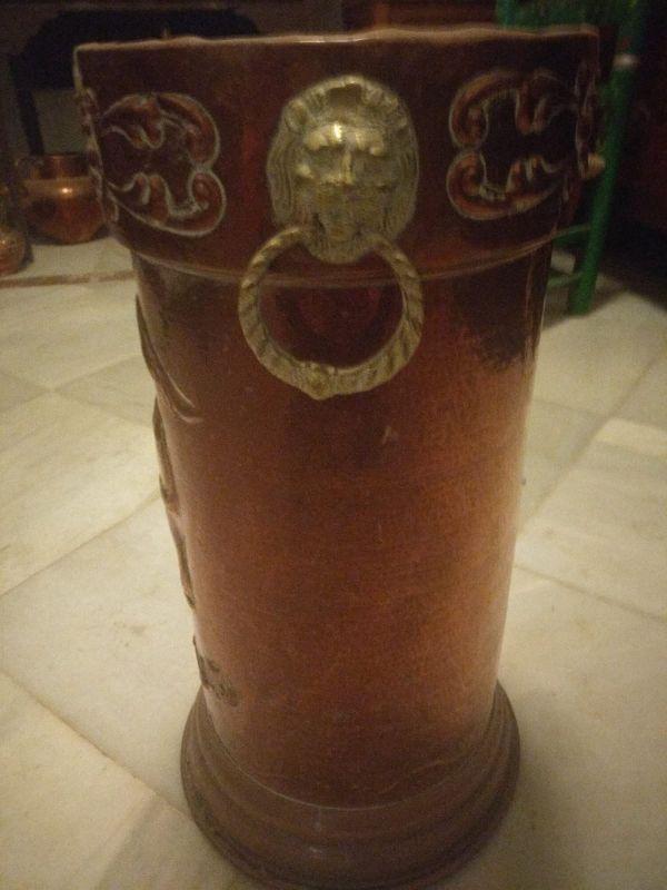 paraguero de cobre,antiguo