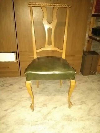6 sillas comedor vintage