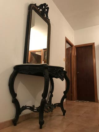 Consola recibidor con espejo, sobre 150 anos