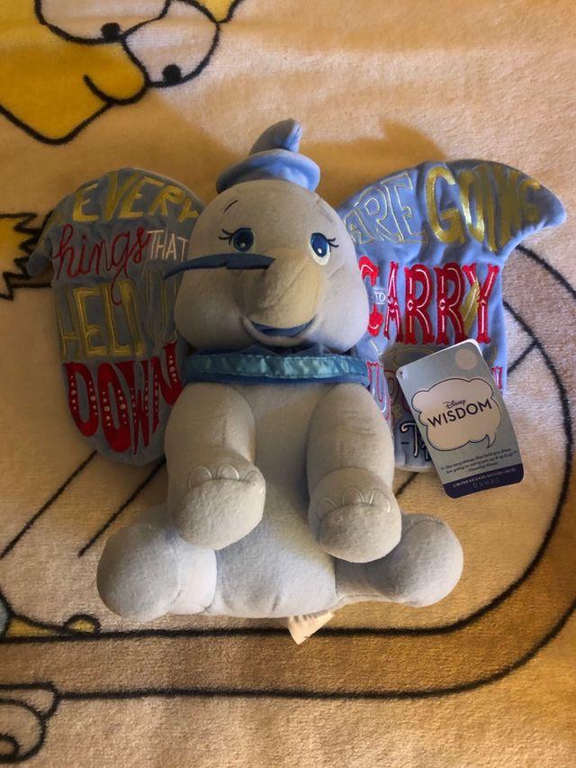 Peluche Dumbo Wisdom Disney Store Nuevo