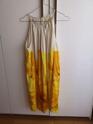 vestido corto mango