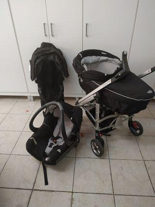 carro bebé tres piezas
