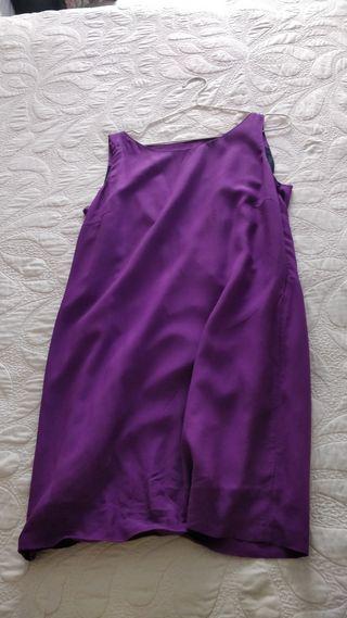 vestido morado de Zara