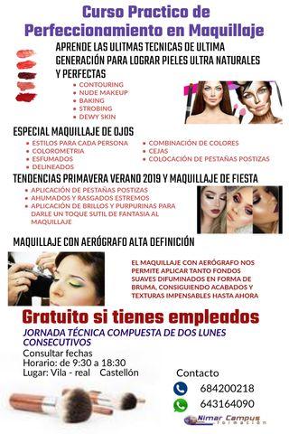 CURSO PRACTICO DE MAQUILLAJE PROFESIONAL