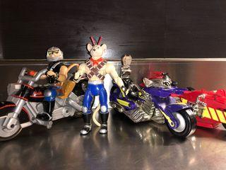 Motoratones 3 motos y 2 figuras