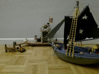 barco pirata Playmobil con fuerte