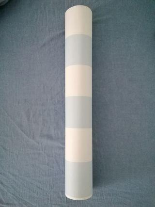Papel pared rayas azul y blanco 10 metros * 53 cm