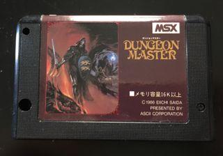 MSX DUNGEON MASTER CARTUCHO