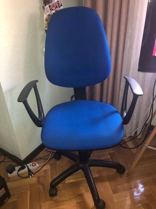 Silla estudio/oficina con ruedas Azul y Negra