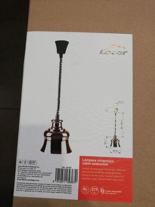 Lámpara infrarrojos cable extensible