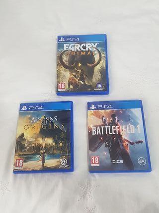 Far Cry + Battlefield + Assasins origins de PS4