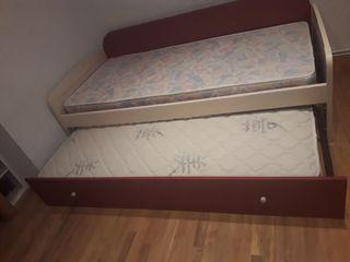 vendo cama y muebles para habitacion de niños